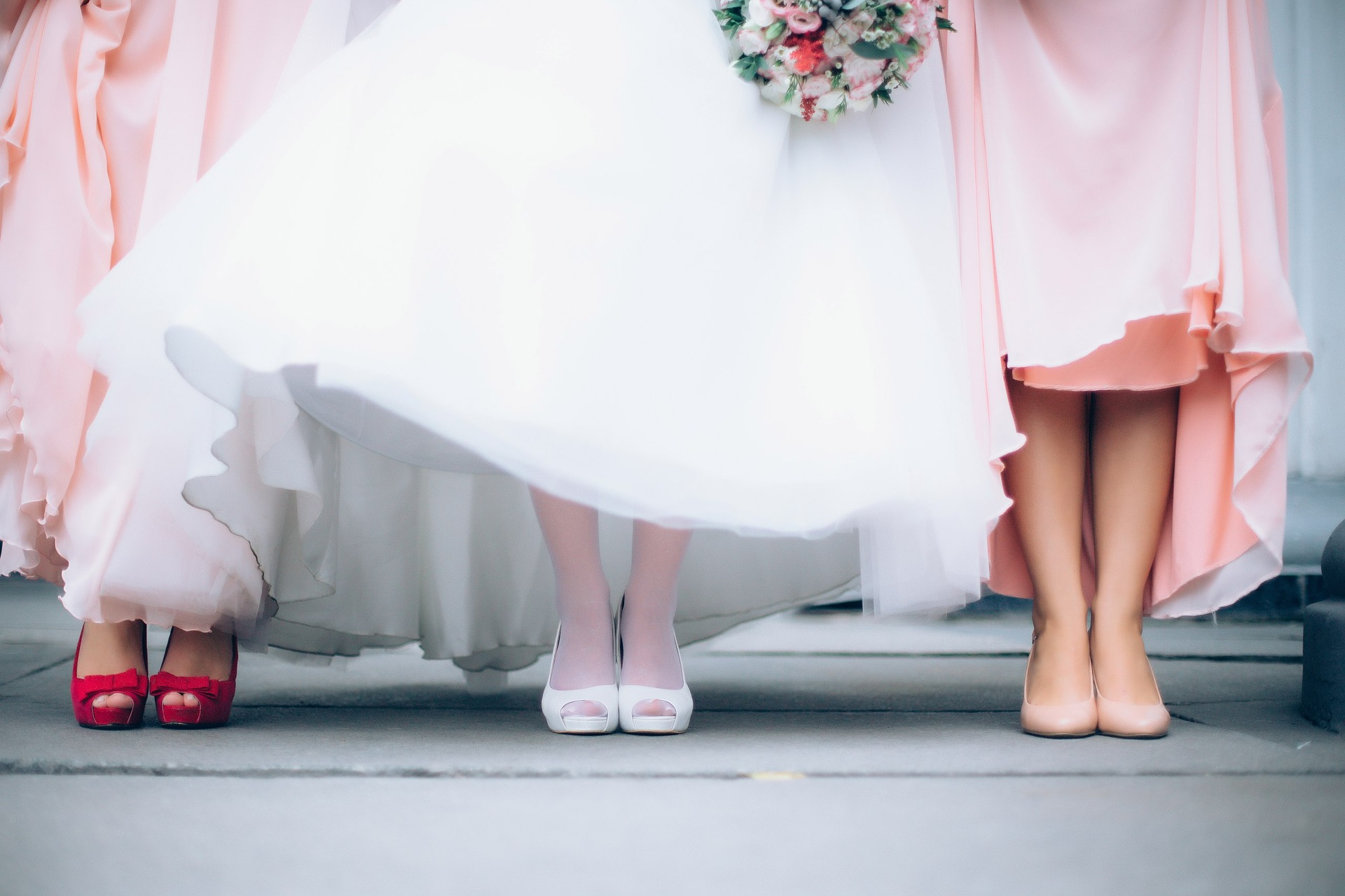 Bride and Bridesmaid Feet