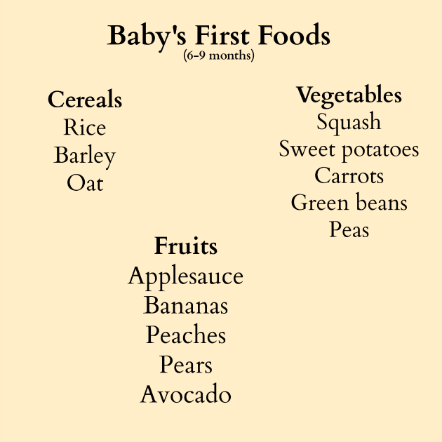 Baby's First Foods – Stage 1
