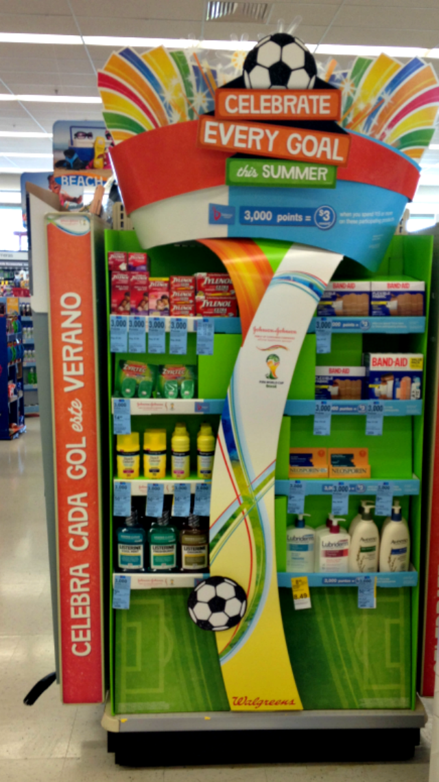 in-store end-cap celebrate every goal
