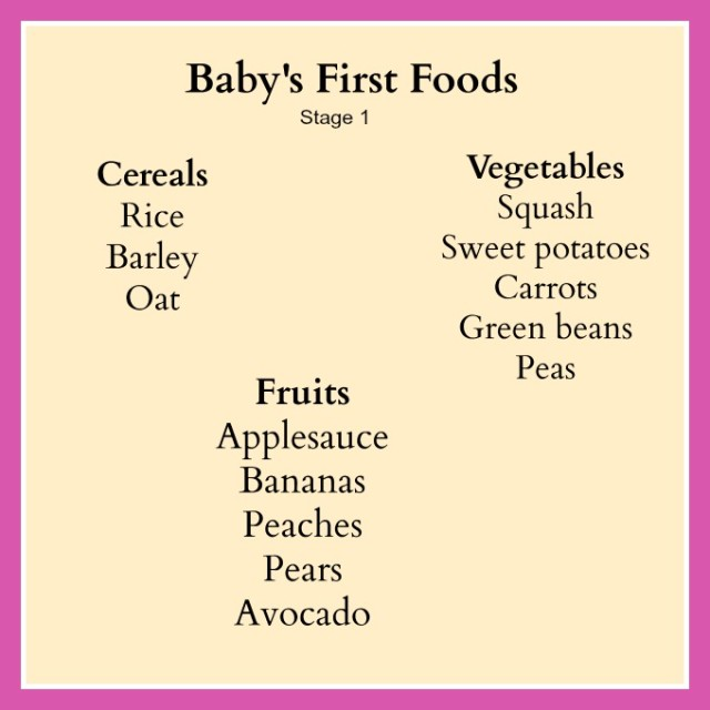 Babys First Foods