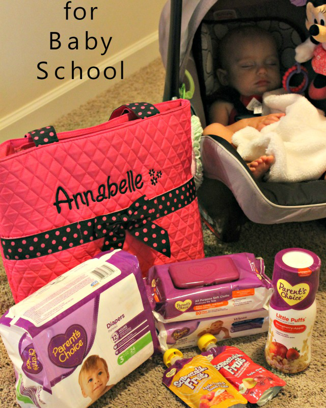 Packing for Baby School with Parent's Choice Diapers