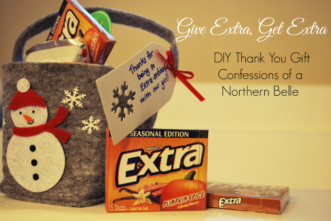 Give Extra, Get Extra DIY Thank You Gift
