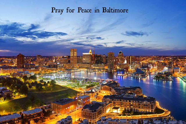 Pray for Peace in Baltimore