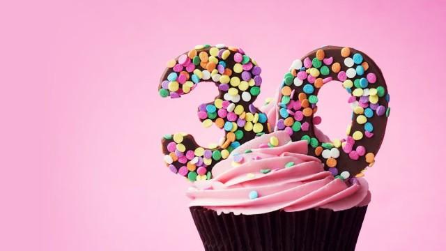 30th birthday cupcake