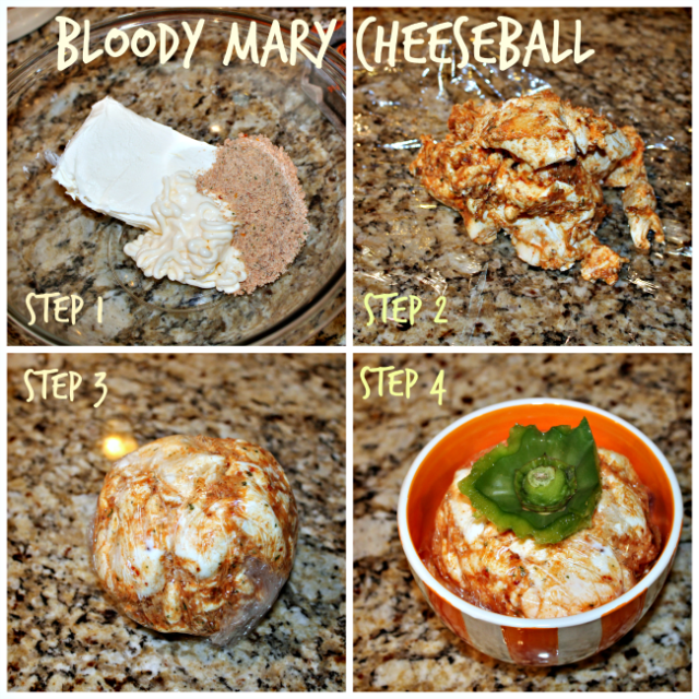 Bloody Mary Cheeseball 2