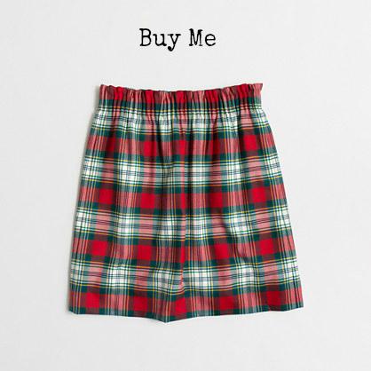 JCrew Plaid Poppy Skirt