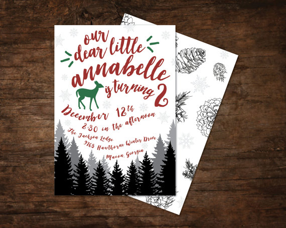 Annabelle's Winter Woodland Party: The Invitations