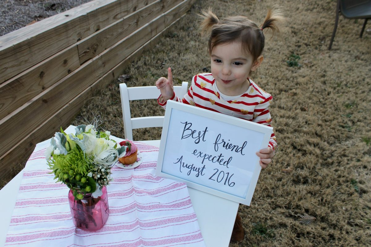 Best Friend Pregnancy Announcement Big Sister