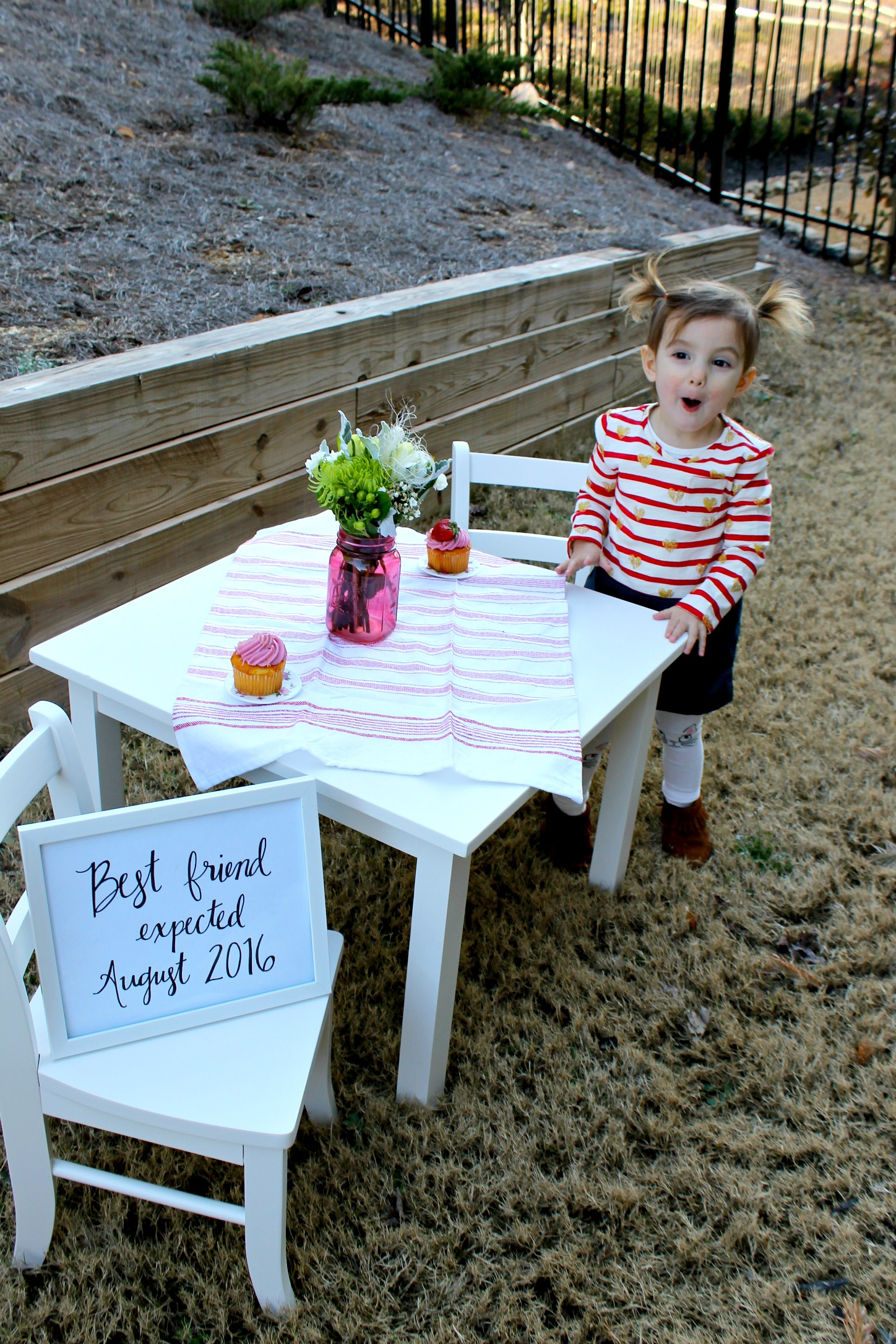 Valentines Day Big Sister Pregnancy Announcement