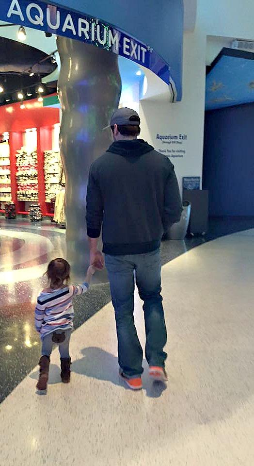 Daddy and A Aquarium
