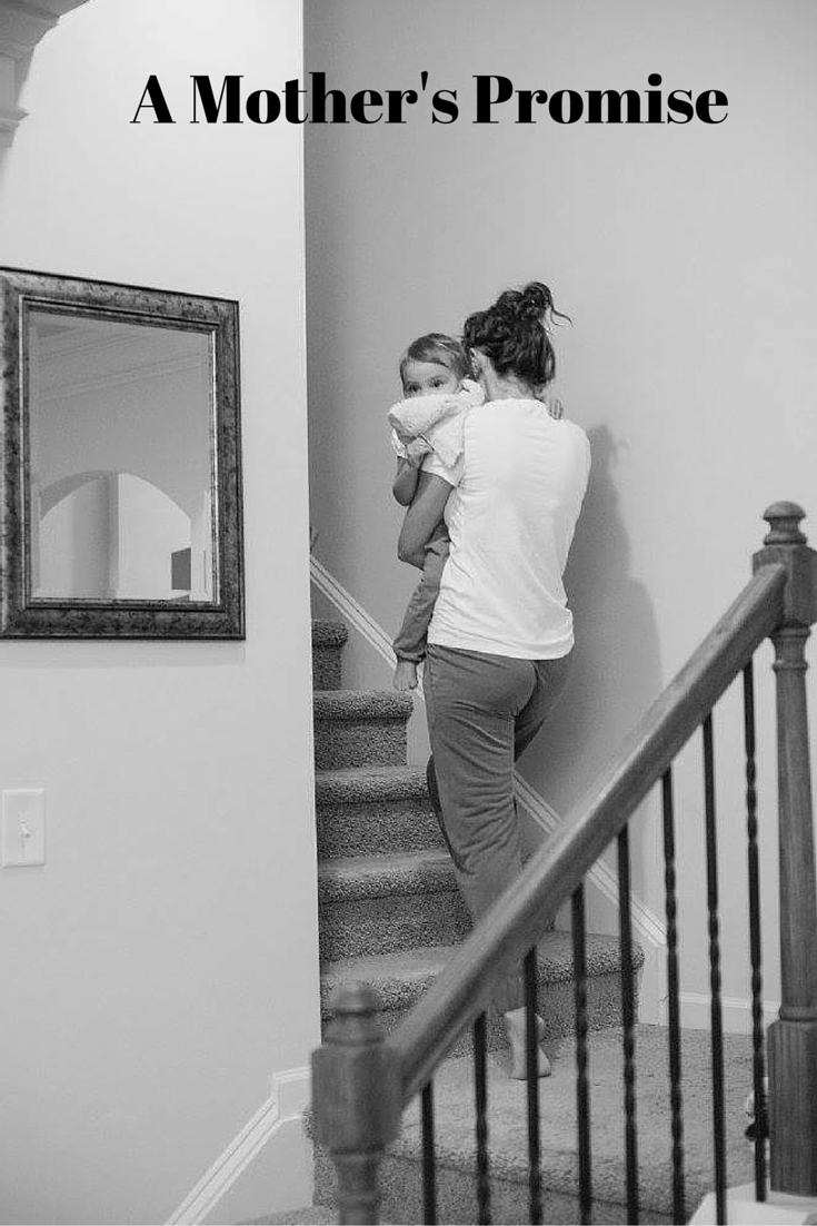 A Mother's Promise-Mom Carrying Child Upstairs