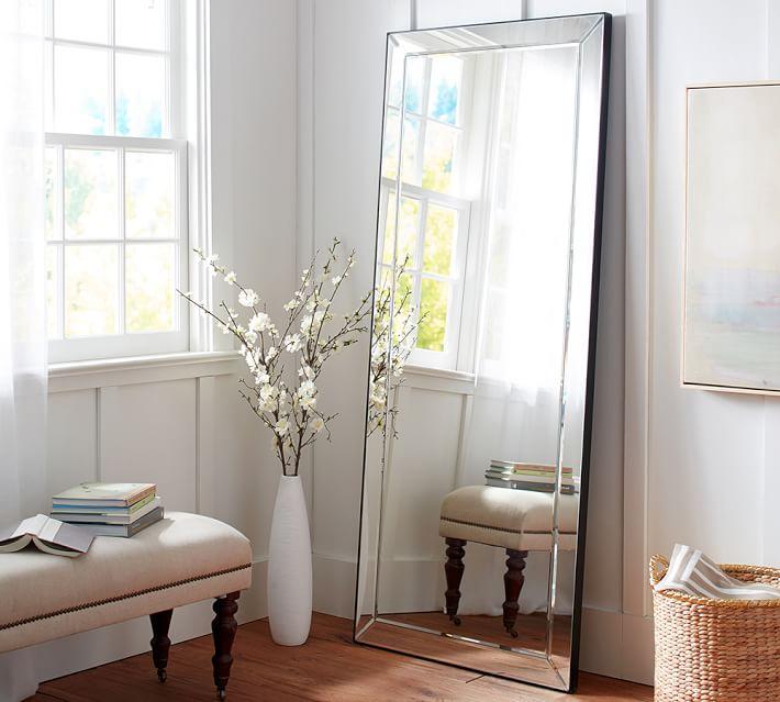 Silver full length floor mirror