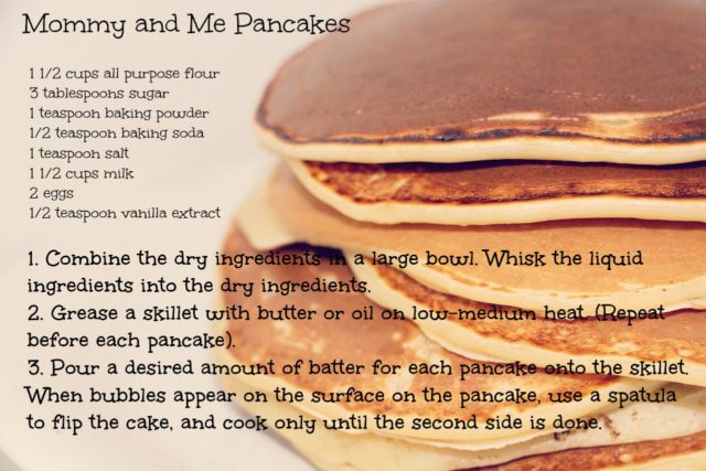 Mommy and Me Pancakes