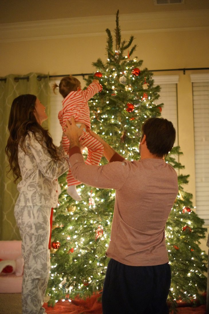 Indoor Christmas Pajama Family Photos