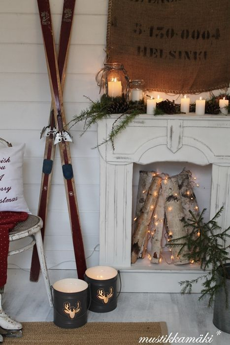 Winter Mantle Decorations