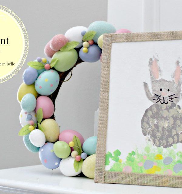 DIY Easter Handprint Bunnies
