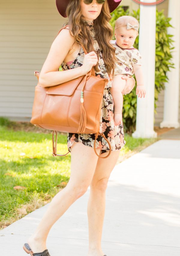 Simple Mom Outfits // Floral Romper