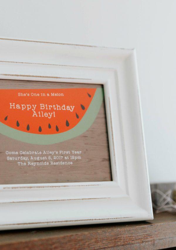 First Birthday Watermelon Invitations