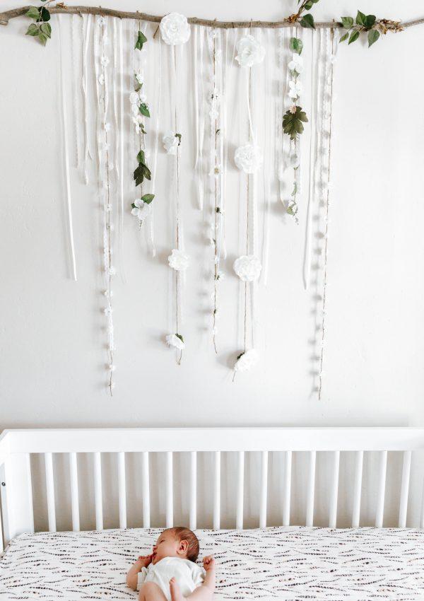 Boho Floral Baby Girl Nursery