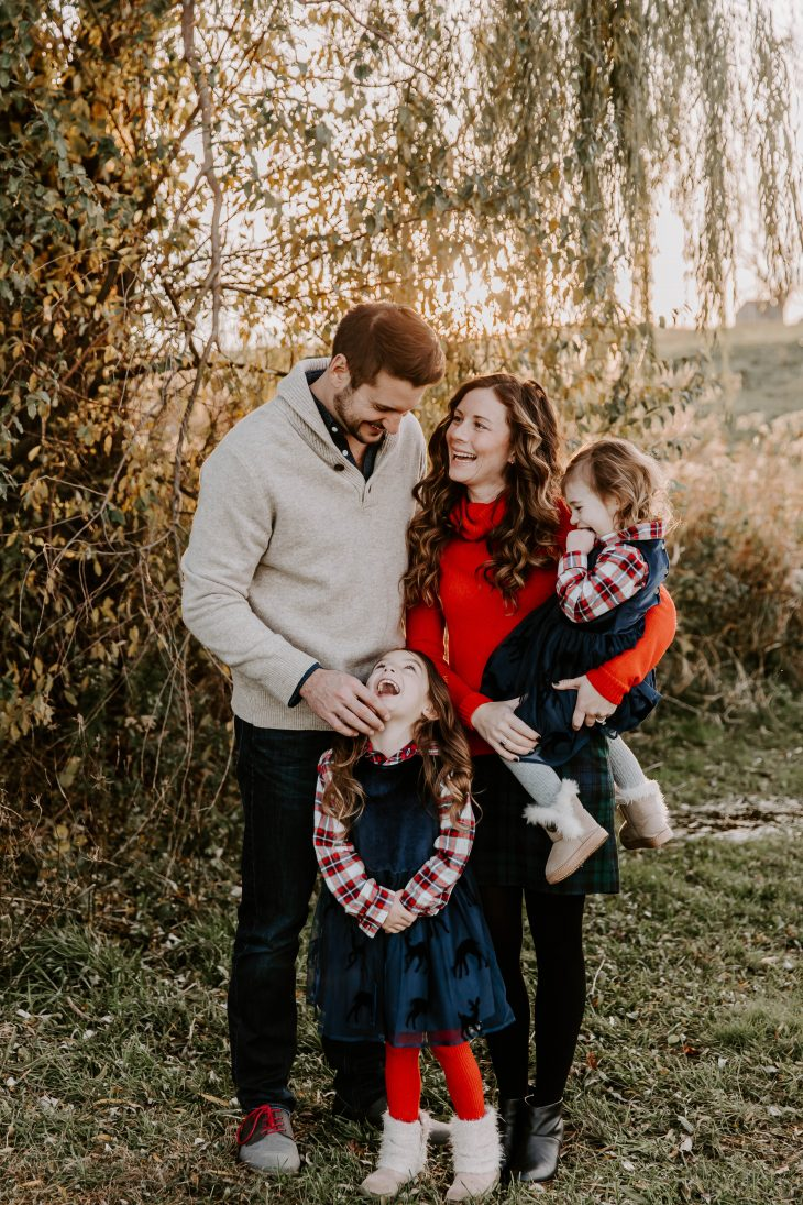 Plaid Family Outfits for Holiday Photos