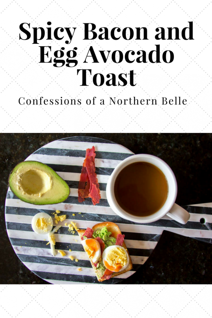 Spicy Bacon and Egg Avocado Toast