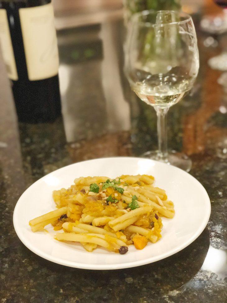 Squash Pasta Dinner
