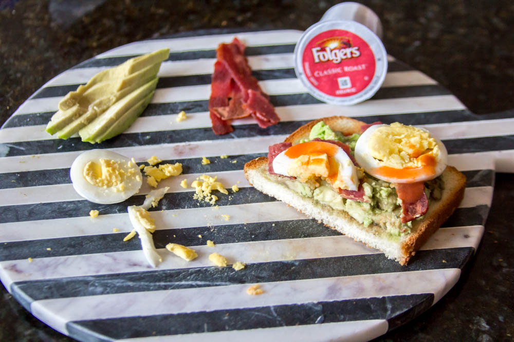 How to Start Your Mornings with Folgers Coffee and Easy Avocado Toast