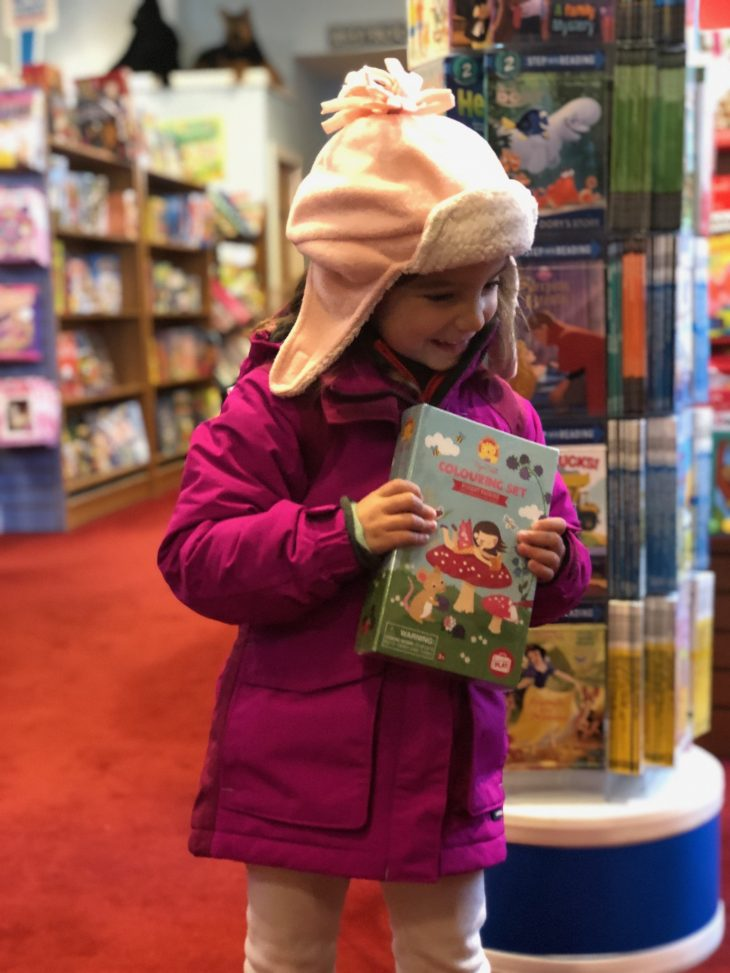 Toddler in a Bookstore