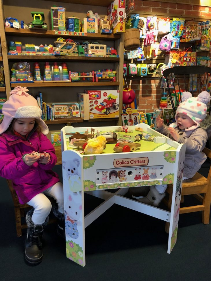 Kids playing in Bookstore