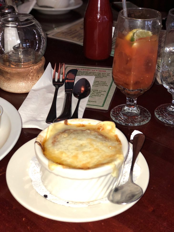 Mulligans Pub French Onion Soup Vermont