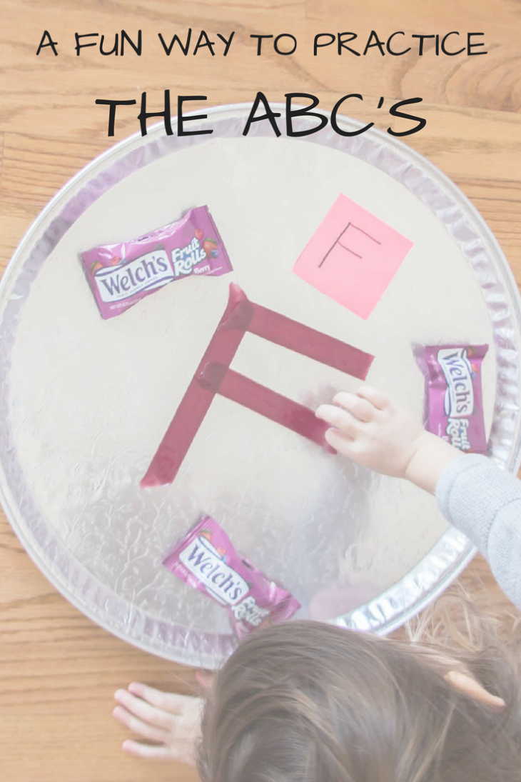 Reinforce the letters found during ABC Scavenger Hunt using Welch's Fruit Roll