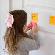Alphabet Letter Practice with Post It Notes