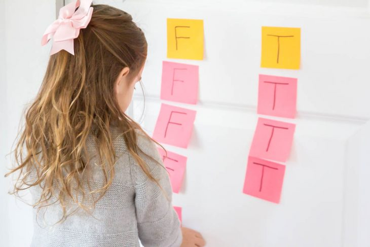 Alphabet Scavenger Hunt Practice with Post It Notes