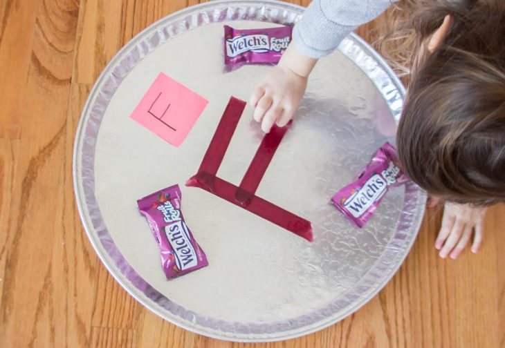 Practice Letters with Welch's Fruit Rolls