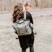 Gray Diaper Bag Backpack