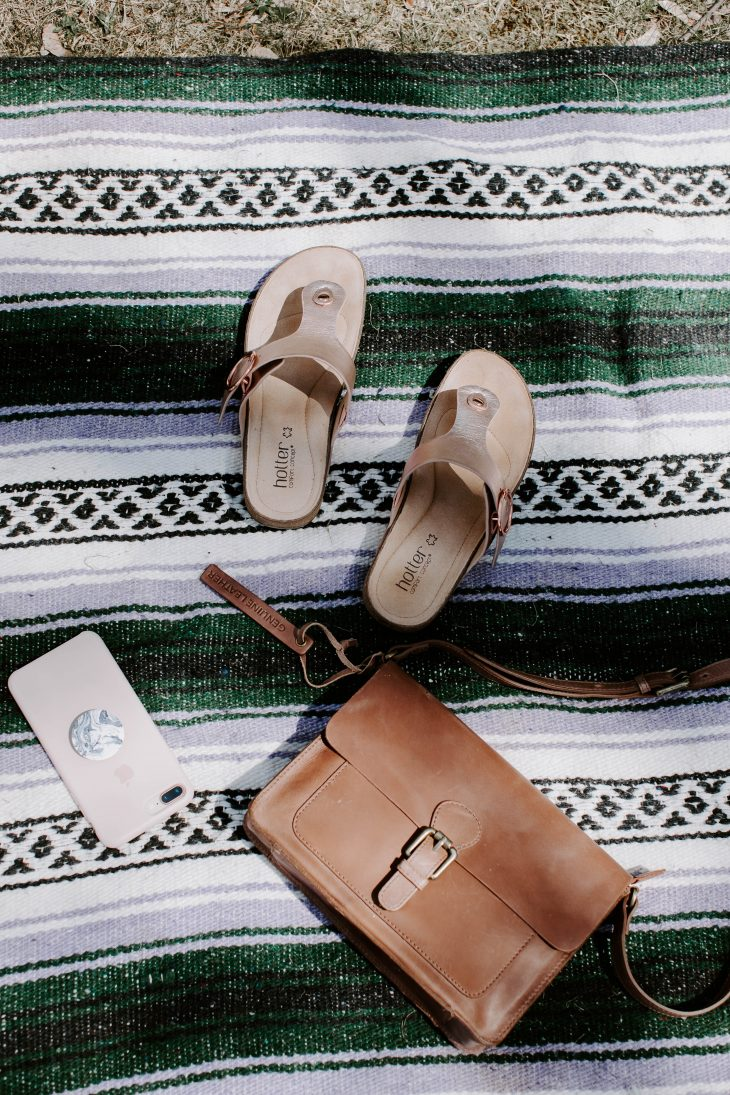 Shoes Purse Phone Flat Lay