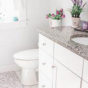 White Sparkling Clean Bathroom