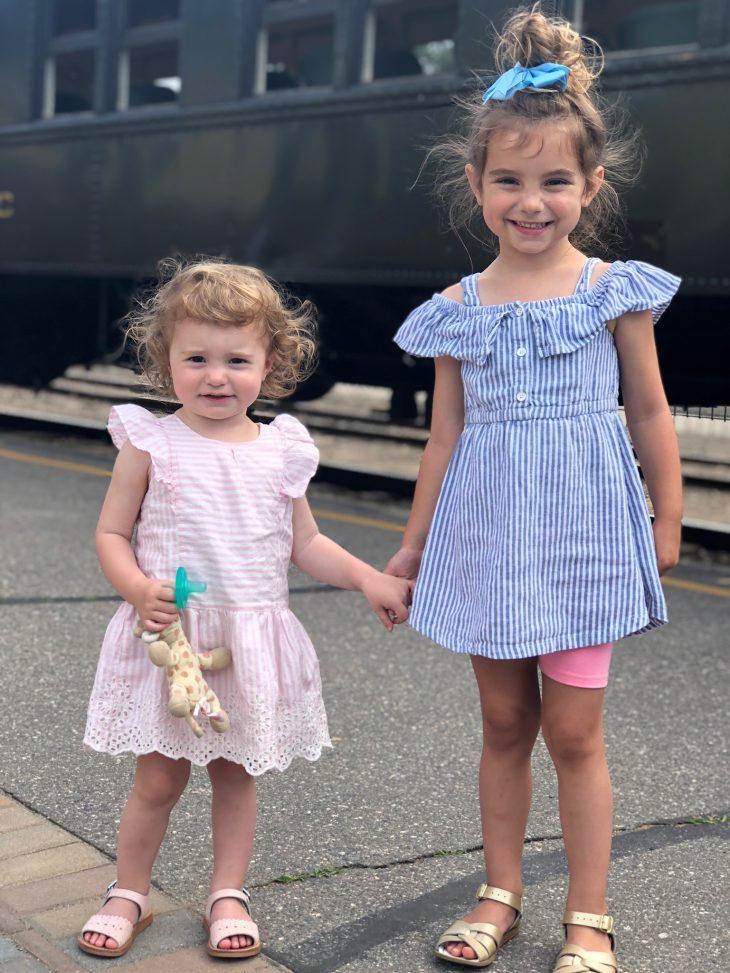 Kids Waiting to Board the Train