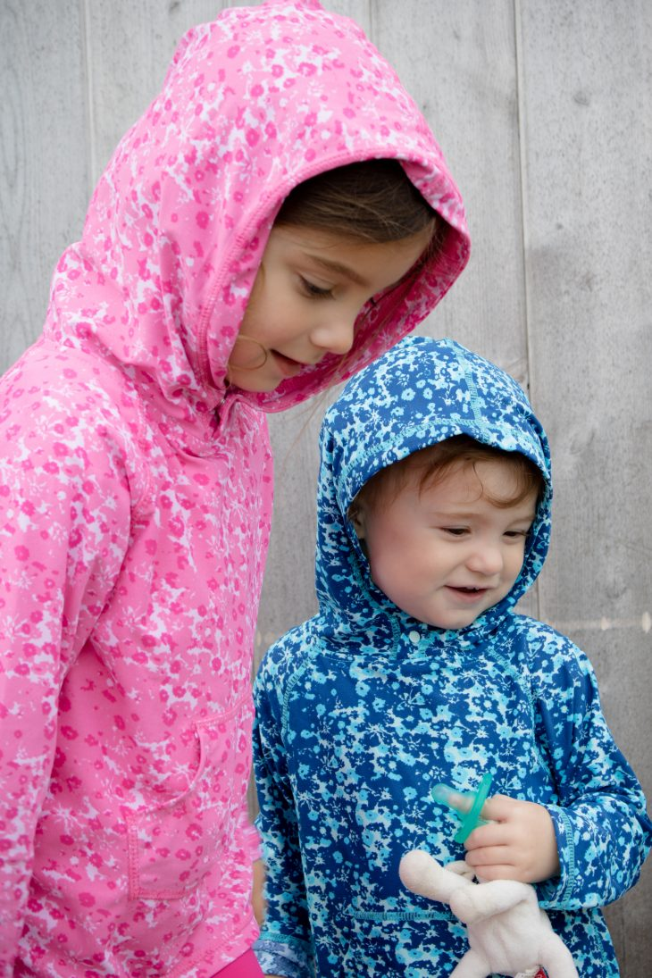 Toddlers Wearing Hoodie and Pants UV Protective