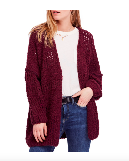 Burgandy Cozy Cardigan