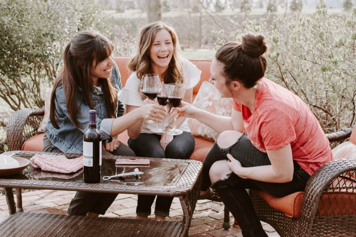 Friends Cheers with Wine