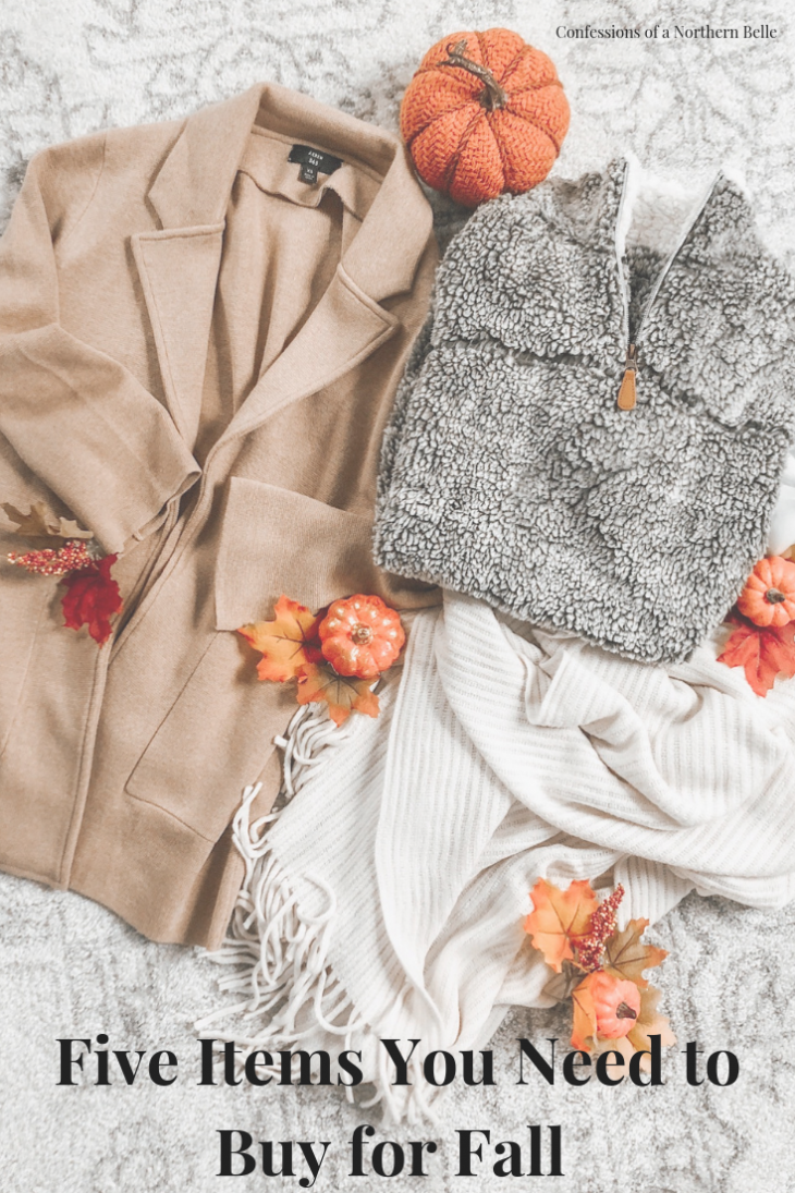 Five Items You Need to Buy for Fall