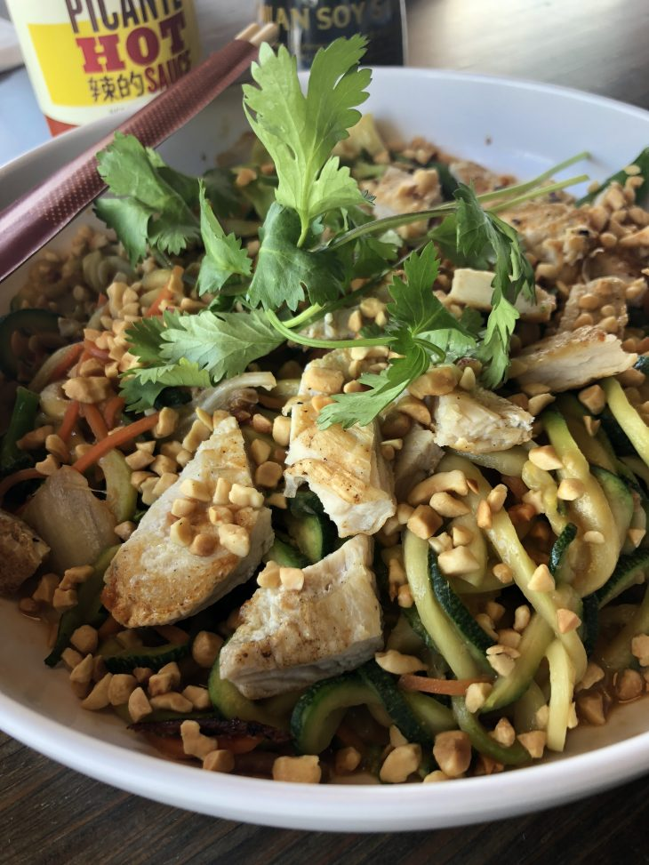 Peanut Saute Zoodles for Friday
