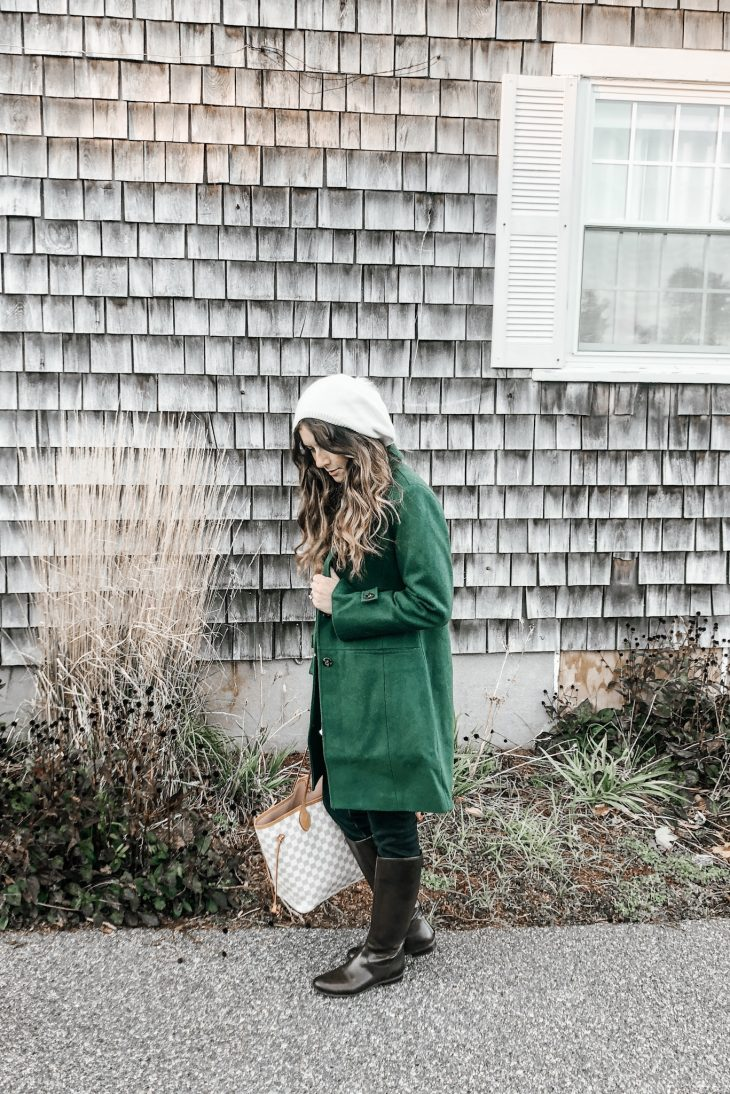 What to Pack for a Fall Getaway - Peacoat, winter hat, leggings