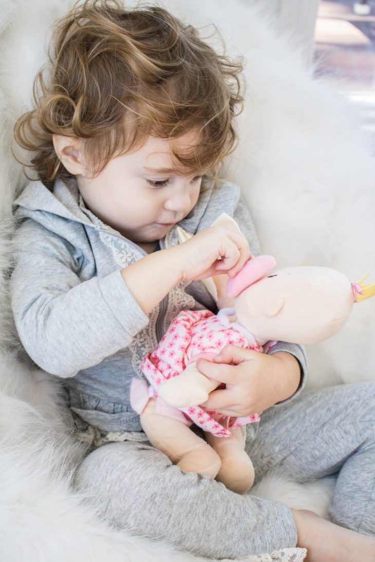 Toddler with Baby Doll