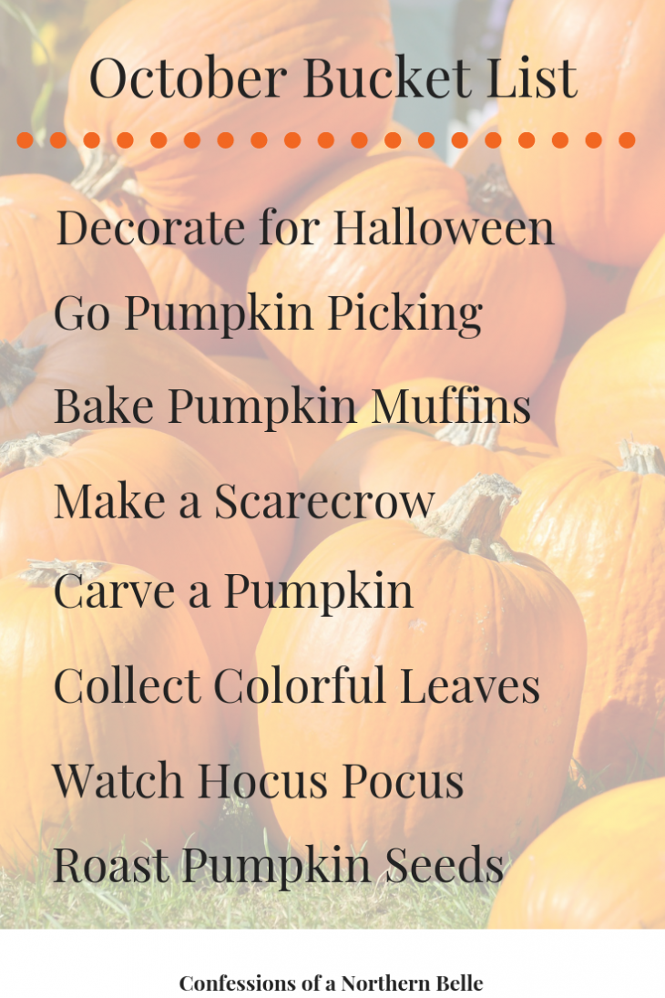 Things to do in October