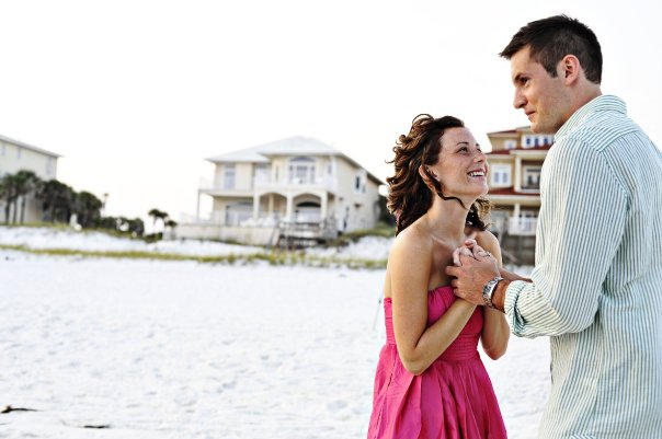 Beach Engagement Photos on the Beach - Confessions of a Northern Belle