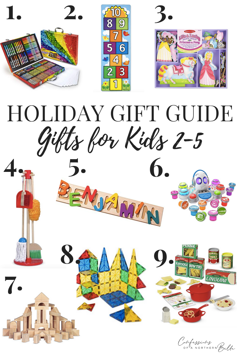Gift Guide // Gifts for Kids Ages 2-5