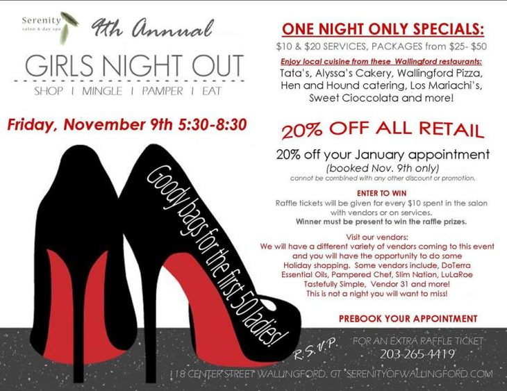 Girls Night Out at Serenity Salon Wallingford CT