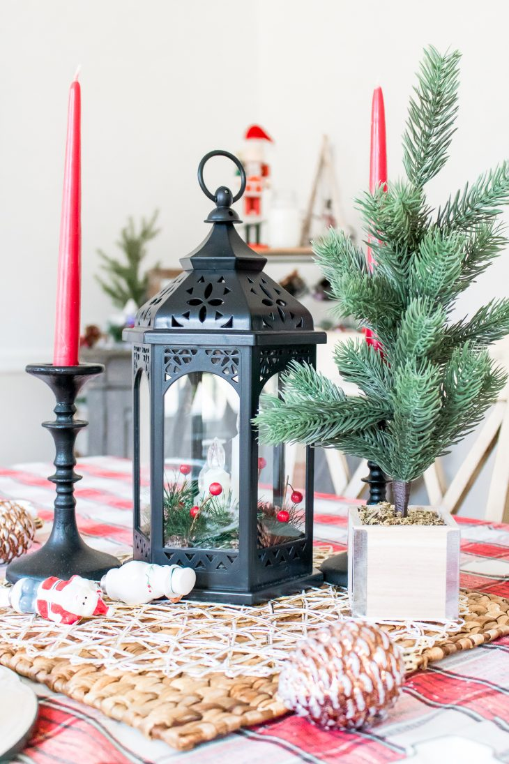 Black Lantern Red Candles Christmas Tree Boscov's